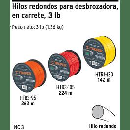 NYLON P/ORILLADORA 3.3X142MTS CARRETE HTR3-130 TRUPER