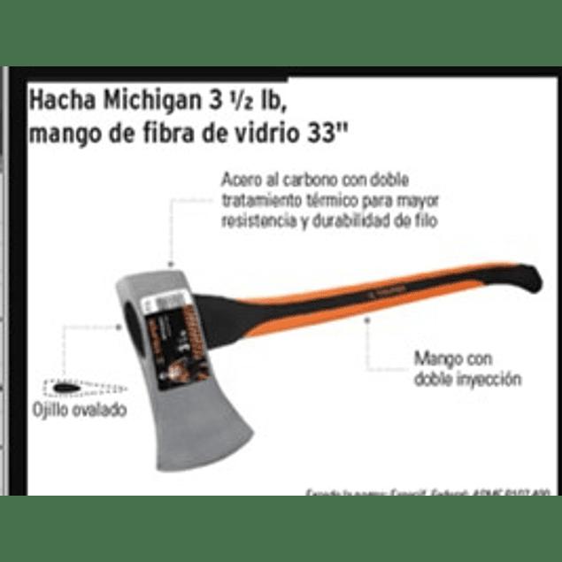 HACHA TRUPER MICHIGAN C/MANGO FIBRA 3.1/2LBS HM-3-1/2F