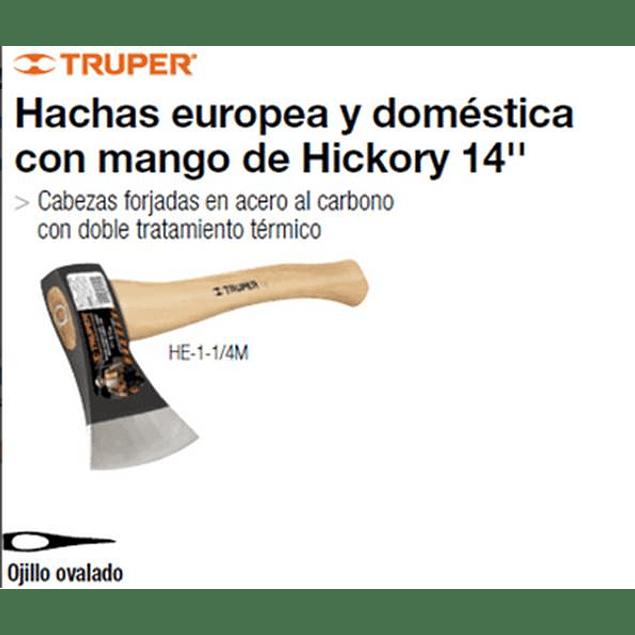 HACHA TRUPER TIPO EUROPEO 1.1/4 LBS. # HE-1 1/4M