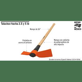 HACHA AZA 2.5 LBS C/MANGO MADERA 36PULG TH-2.5M TRUPER