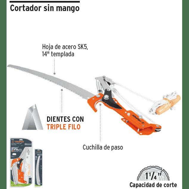 TIJERA TRUPER CORTA RAMAS S/MANGO # TR-82