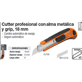CUCHILLO CARTONAJE TRUPER 6PULG  # CUT-6X