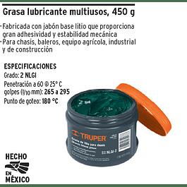 GRASA LUBRICANTE TRUPER MULTIUSOS 450GR # GRAS-45