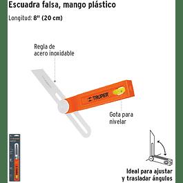 ESCUADRA FALSA TRUPER PROFESIONAL 8PULG # EFT-8
