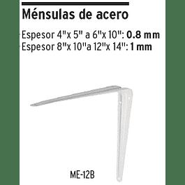 ESCUADRA ESTANTE TRUPER BLANCA # ME-10B  8X10PULG