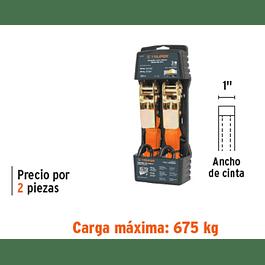 ESLINGA TRUPER  2 PZS 3MTX1PULG CARGA MAXIMA 675 KG. # SU-675R