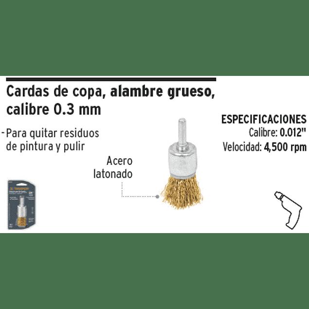 ESCOBILLA TRUPER DE COPA P/TALAD.GRUESA 3/4PULG # COM-3/4