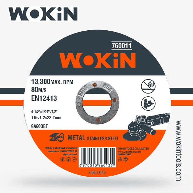 DISCO CORTE 4 1/2 MILIM WOKIN