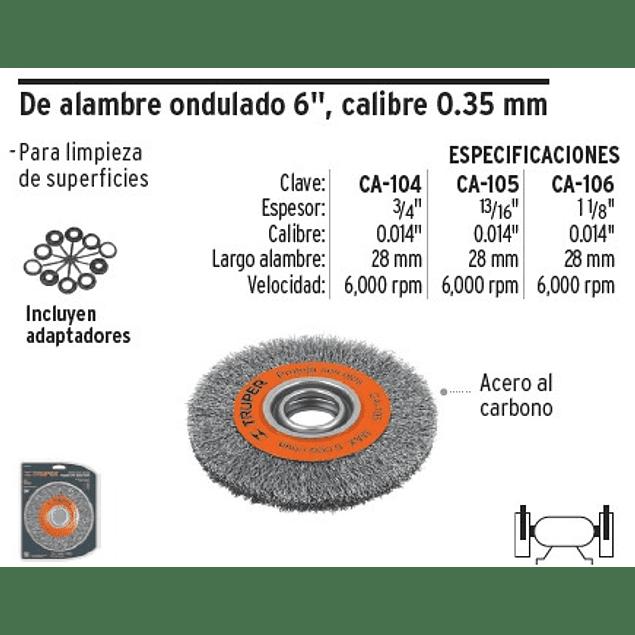 ESCOBILLA TRUPER CIRCULAR P/ESMERIL FINA 1.1/8PULG # CA-106
