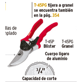 TIJERA PRETUL JARDINERIA 21 CM # T-45P