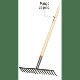 RASTRILLO TRUPER RECTO, 16 DTES C/MANGO MADERA # R-16M