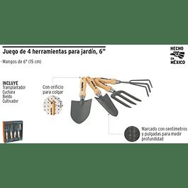 HERRAMIENTAS TRUPER JARDIN 6 (4PZAS) # JJ-4