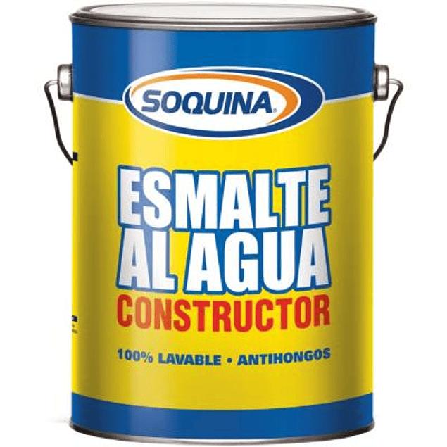 ESMALTE AGUA CONSTRUCTOR BLANCO GL SOQUINA