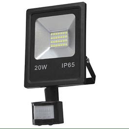 PROYECTOR LED SMD 20W 4000K C/SENSOR NEGRO BYP