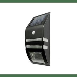 APLIQUE MURO EXTERIOR LED SOLAR 1W 40LM C/SENSOR DOBLE FUNCION BP