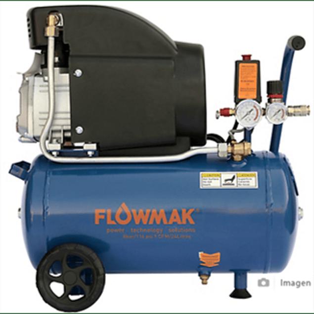 COMPRESOR 24L 1.5 HP 8BAR FLOWMAK