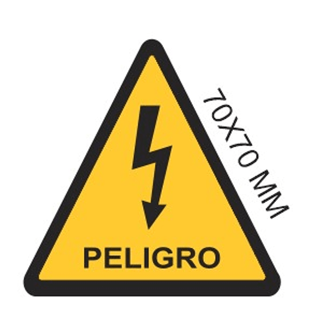 TRIANGULO RAYO PELIGRO AMARILLO