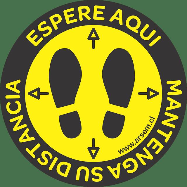 ADHESIVO PISO DISTANCIAMIENTO SEGURIDAD 290 MM