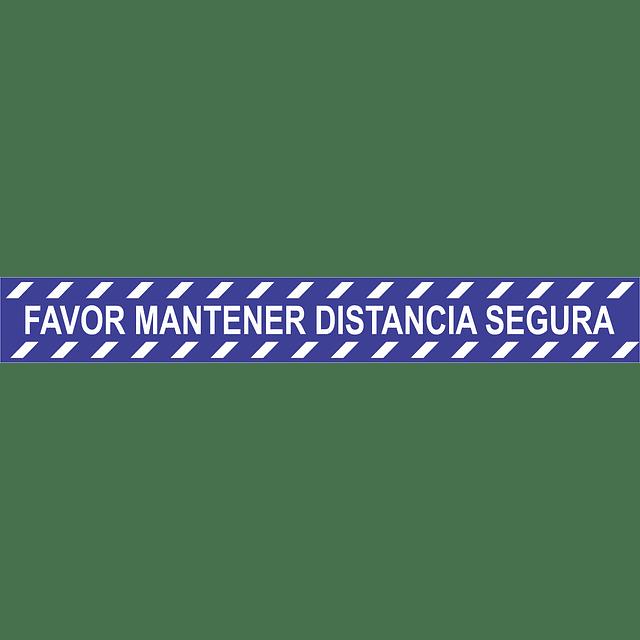 ADHESIVO PISO DISTANCIAMIENTO FRANJA 600X80 MM
