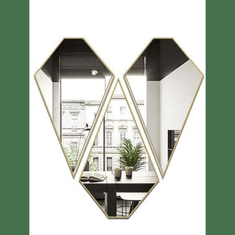 Quadro Espelho Heart - Alteração de valores por medidas