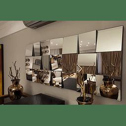 Quadro Espelho Big Mosaic Mirror com espelhinhos 20x20cm - Alteração de valores por medidas