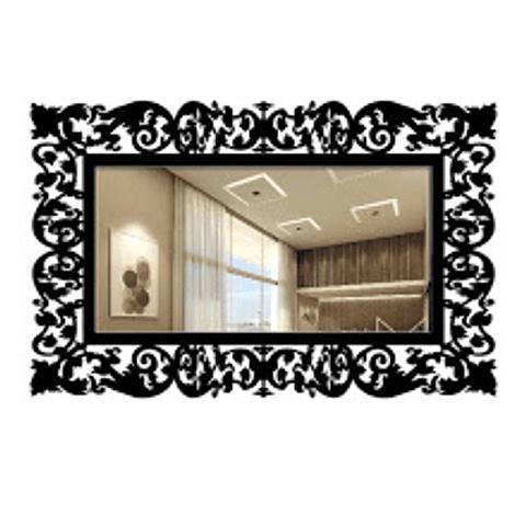 Quadro Espelho Rococó Retangular - Alteração de valores por medidas