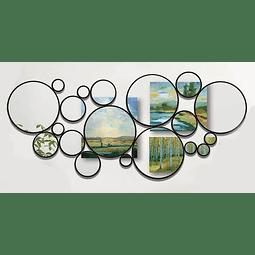 Quadro Espelho Double Balls - Alteração de valores por medidas