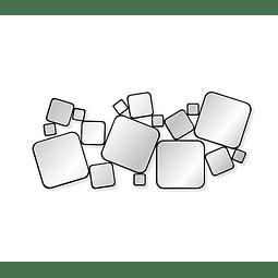 Quadro Espelho Acrílico Double Square - Alteração de valores por medidas