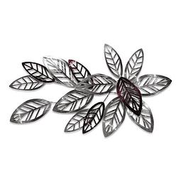 Escultura de Parede em Aço Inox Flora Abundante