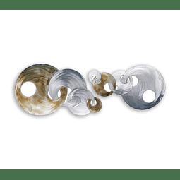 Escultura de Parede em Aço Inox Anéis 2