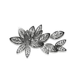 Escultura de Parede em Aço Inox Silver Leaves - Alteração de valores por medidas