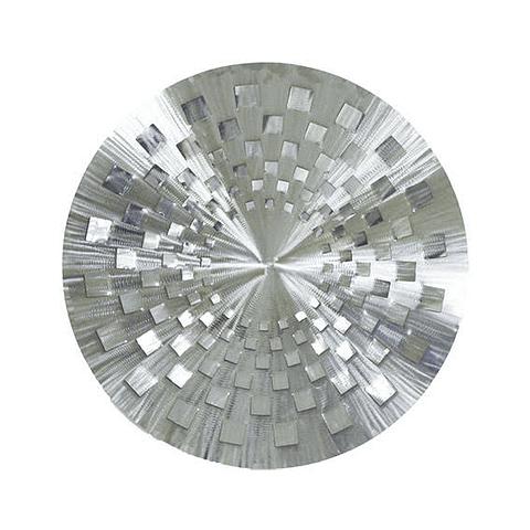Escultura de Parede em Aço Inox Mandala Blanc