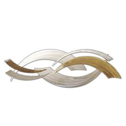 Esculturas de Parede em Aço Inox Upside Wave (par) - Alteração de valores por medidas