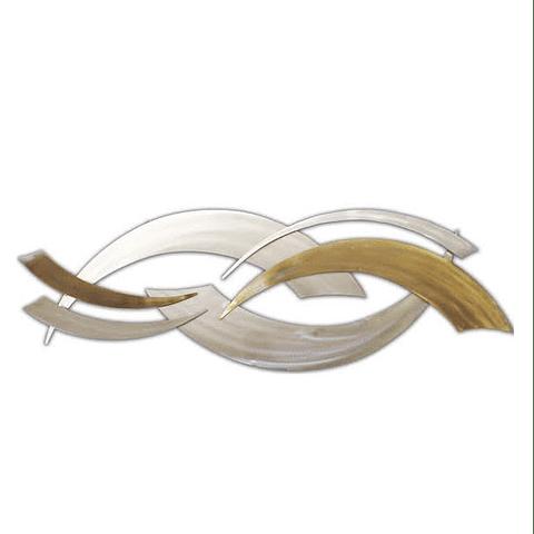 Escultura de Parede em Aço Inox Upside Wave - Alteração de valores por medidas