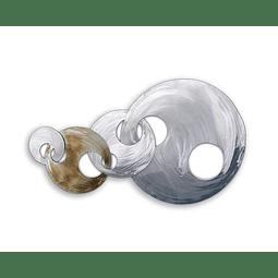 Escultura de Parede em Aço Inox Anéis 1