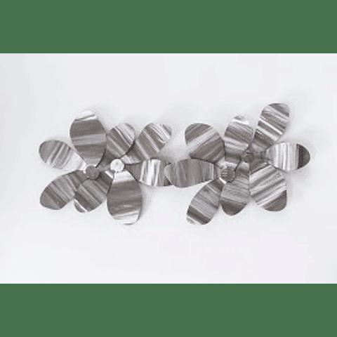 Escultura de Parede em Aço Inox Flor