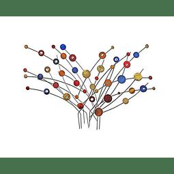 Escultura de Parede em Aço Inox Leque - Alteração de valores por medidas