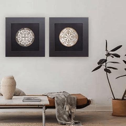 Quadro Mandala Black - Alteração de valores por medidas
