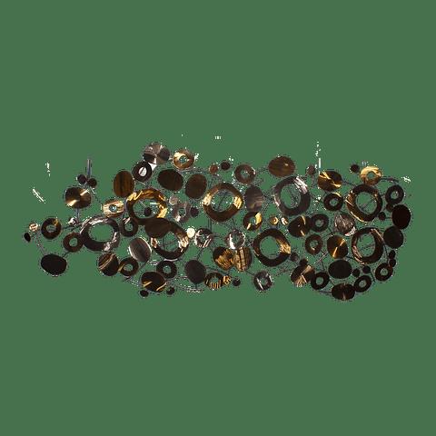 Escultura de Parede em Aço Golden Circles