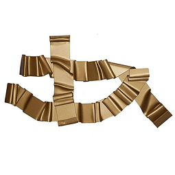 Escultura em Acrílico Laços - Alteração de valores por medidas