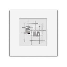 Escultura de Parede em Alumínio Rectangle B - Alteração de valores por medidas