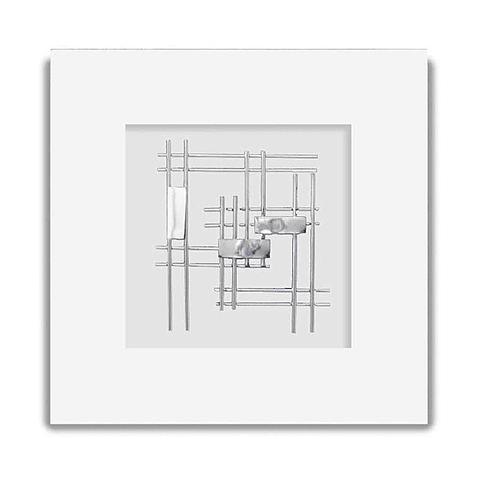Escultura de Parede em Alumínio Rectangle - Alteração de valores por medidas