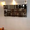 Quadro Espelho In-Out Prata com espelhinhos de 30x30cm - Alteração de valores por medidas