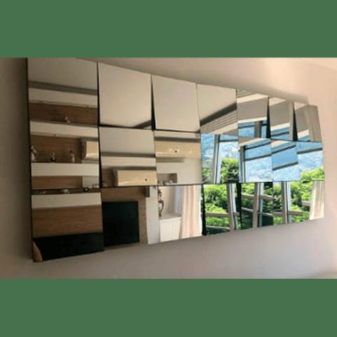 Quadro Espelho Big Mosaic Mirror com espelhinhos de 30x30cm - Alteração de valores por medidas