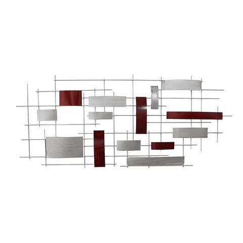 Escultura de Parede em Alumínio Sofisticata - Alteração de valores por medidas