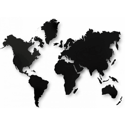 Mapa Mundi de MDF com LED - Alteração de valores por medidas