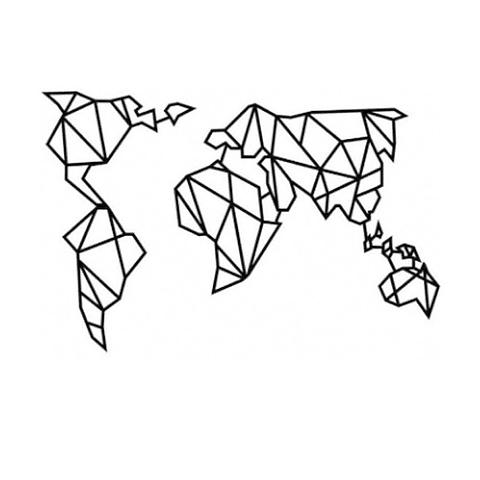 Quadro Mapa Mundi In Design - Alteração de valores por medidas