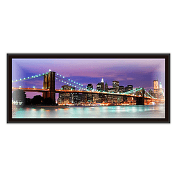 Quadro LED Brooklyn Bridge A - Alteração de valores por medidas