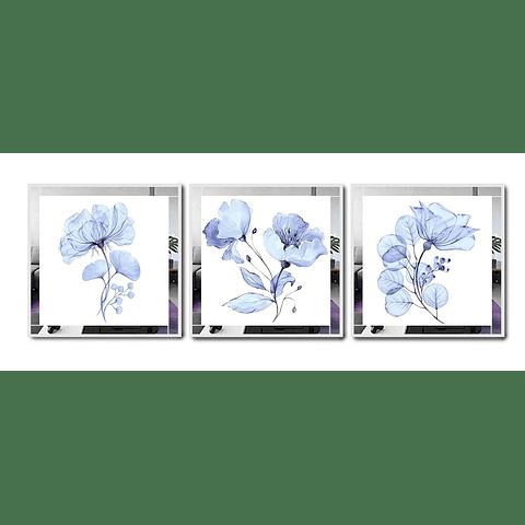 Trio de Quadros Separados Cecília com Paspatur de Espelho - Alteração de valores por medidas