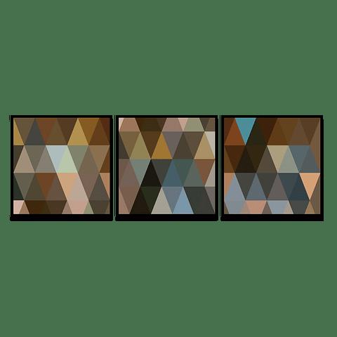 Conjunto de Quadros Separados Triangles - Alteração de valores por medidas